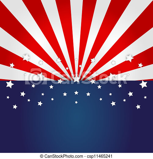 American flag design - csp11465241