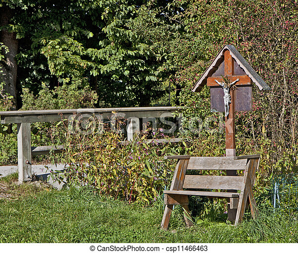 Small rural chapel outdoor - csp11466463