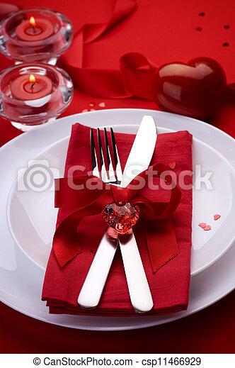 浪漫, 情人是, 确定, 地方, 晚餐, 天 - csp11466929
