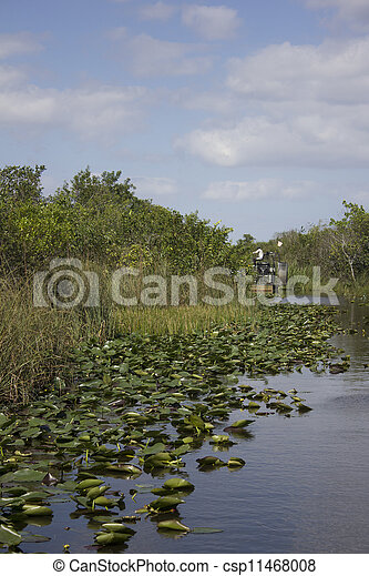 Stock Photography of Everglades Swamp Air Boat Airboat motorboat - An air boat in... csp11468008 ...