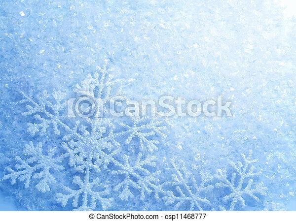 Snowflakes, fundo, Inverno, neve, Natal - csp11468777