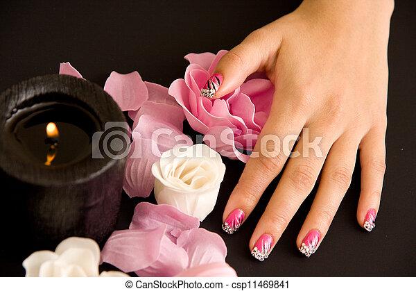 Women's manicure arranged - csp11469841
