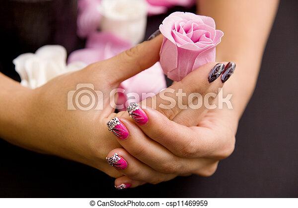 Women's manicure arranged - csp11469959
