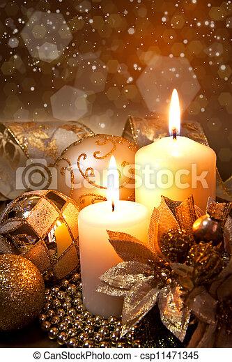 decoración, navidad - csp11471345