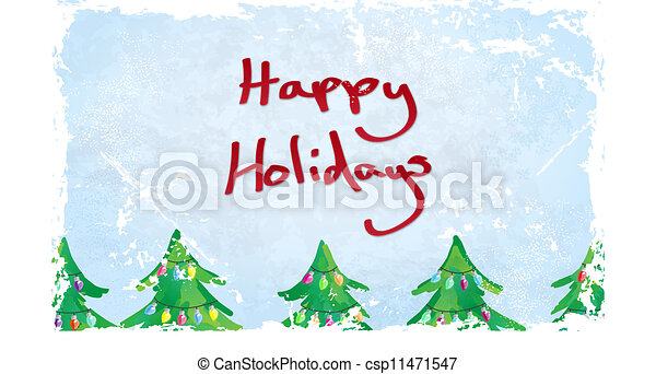Happy Holidays Card - csp11471547