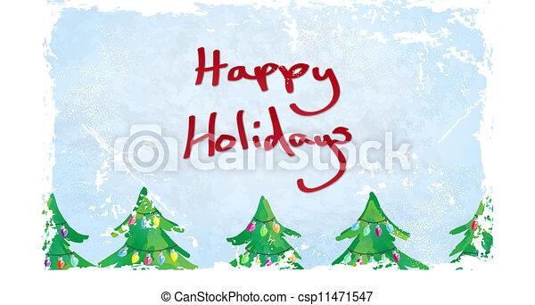 Happy Holidays Card - csp11471547