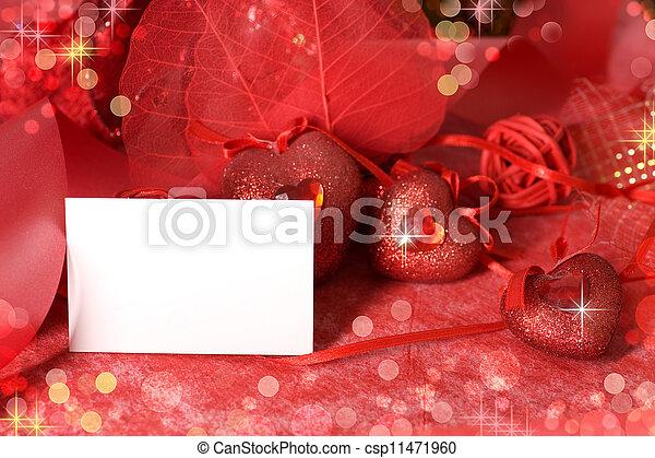 Valentine's Day Card  - csp11471960