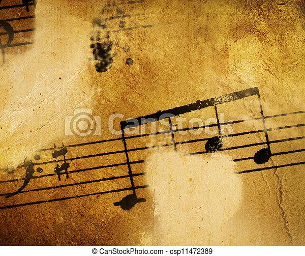 Årgång, musik, bakgrund - csp11472389