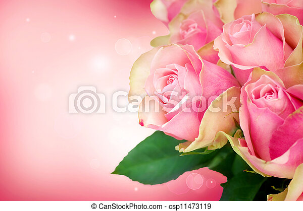 Rose Flower Art Design.Wedding Card - csp11473119
