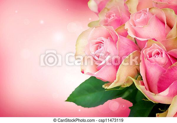 Rose Flower Art Design.Wedding Card - csp11473119