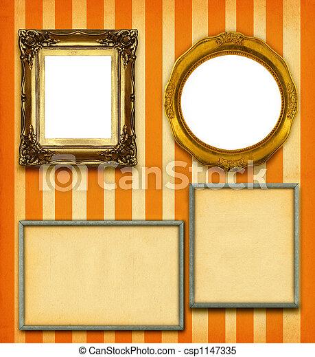 XXL size selection of picture frames - csp1147335