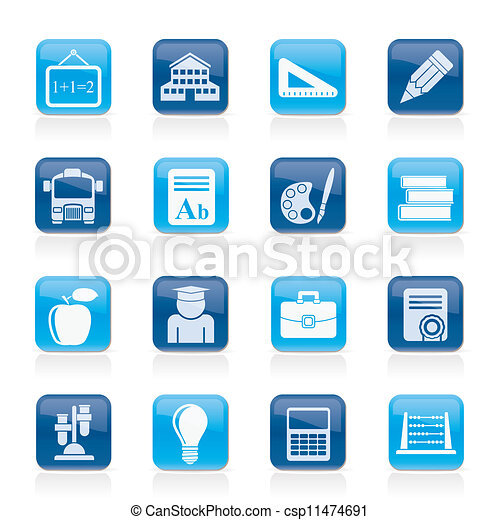 school and education icons - csp11474691