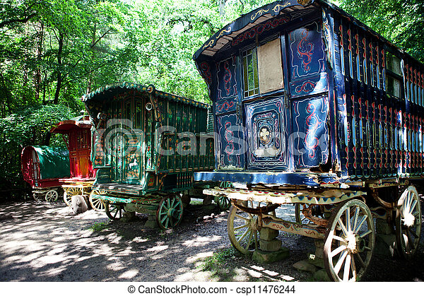 Stock Photo Of Gypsy Caravan Forest Cart Traditional Gypsy Caravan Or Csp11476244 Search