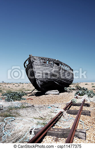Picture of trawler fishing boat wreck derelict - abandoned ...