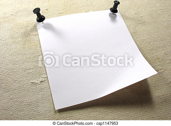 White notice paper over a old canvas background - csp1147953