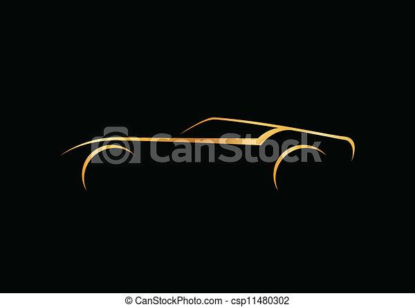 Speedy golden automobile logo - csp11480302