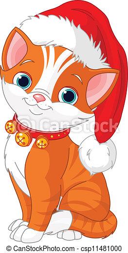Vector , navidad, gato
