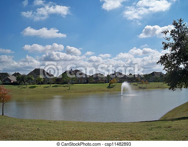 Residential Lake - csp11482893