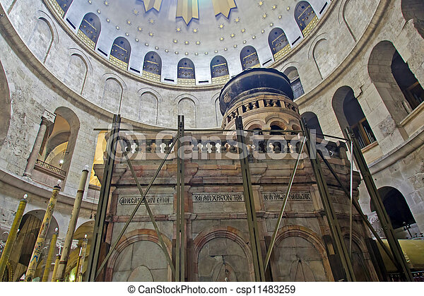 Israel. Jerusalem. Church of the Holy Sepulchre. The Tomb of Jesus Christ