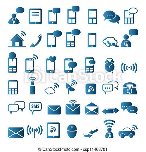 Communication icons - csp11483781