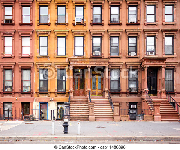 Historic Harlem Brownstones - csp11486896