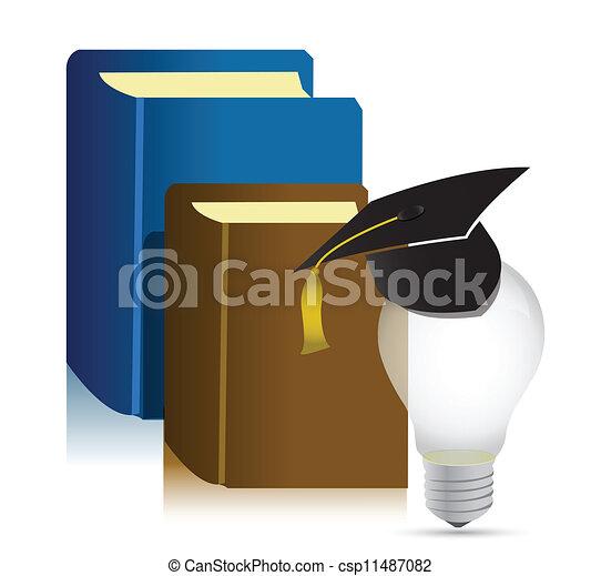 education books idea illustration - csp11487082