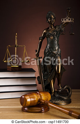 Antique statue of justice,law - csp11491700