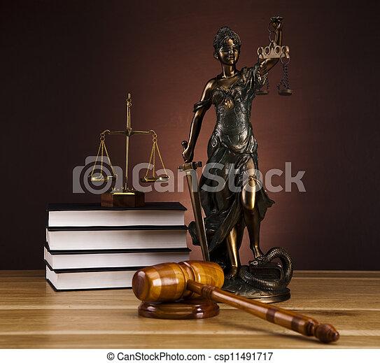 Antique statue of justice, law - csp11491717