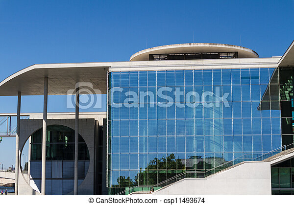 The Bundeskanzleramt / Kanzleramt / Chancellery is the seat of the German federal government and the residence of the German Bundeskanzler (Chancellor). It is located in Berlin, Germany. - csp11493674