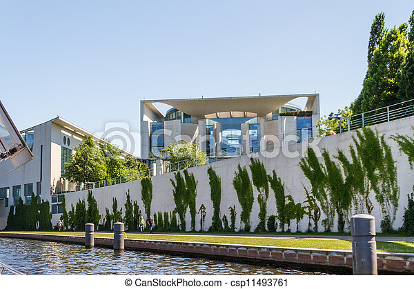 The Bundeskanzleramt / Kanzleramt / Chancellery is the seat of the German federal government and the residence of the German Bundeskanzler (Chancellor). It is located in Berlin, Germany. - csp11493761