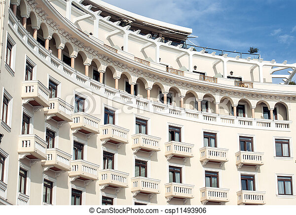 Historic building located at Thessaloniki city in Greece. Area of the old city. - csp11493906