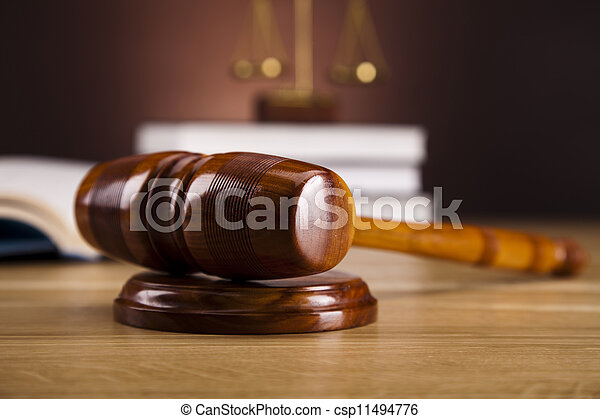Law and justice concept, gavel - csp11494776