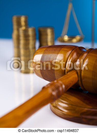 Law and justice concept, blue sky - csp11494837