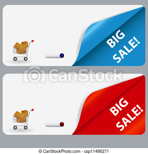 Sale banner with place for your text. vector illustration - csp11495271