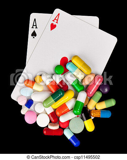 Gambling with Medicine - csp11495502