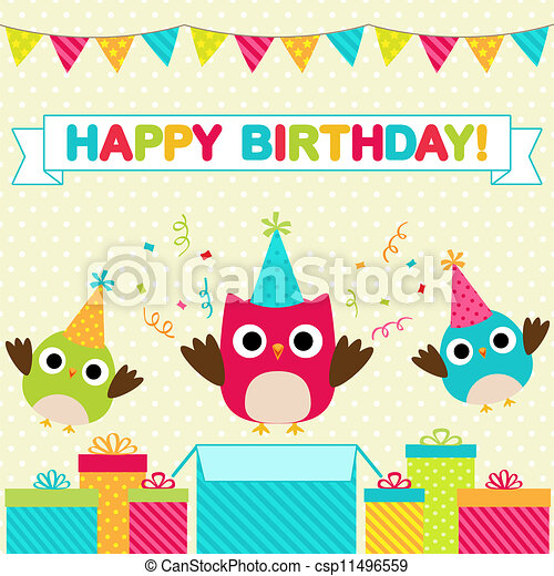 Birthday party card - csp11496559