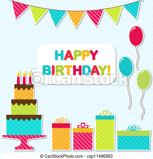 Birthday party card - csp11496563