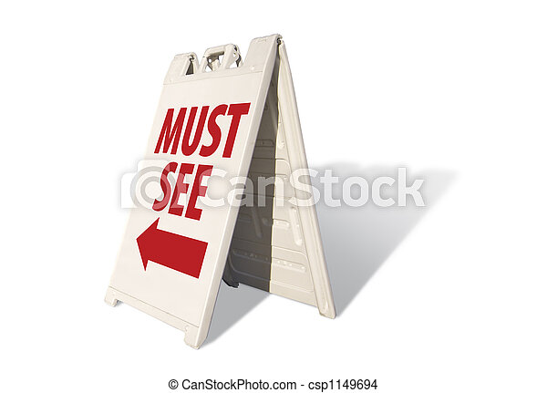 Must See Tent Sign - csp1149694