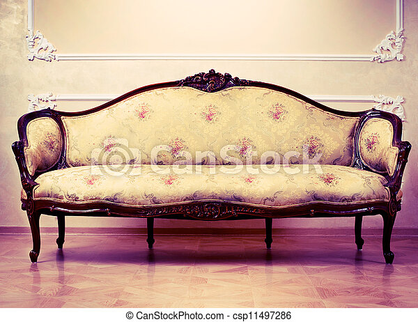 Luxury Interior. Carved Furniture