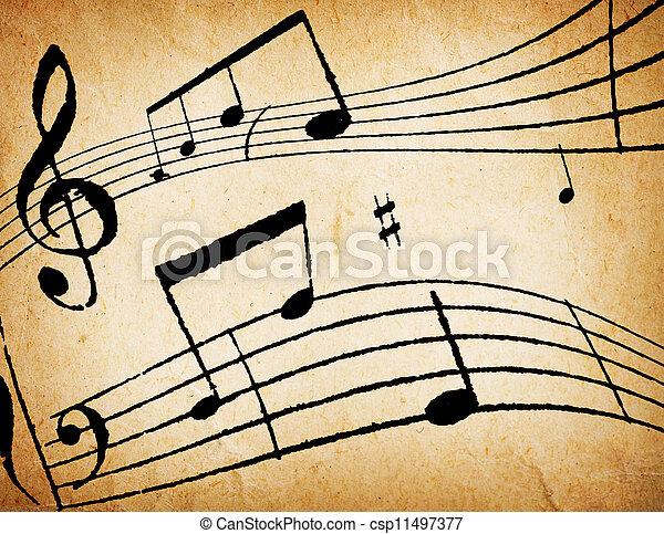 abstrakt, musik, bakgrund - csp11497377