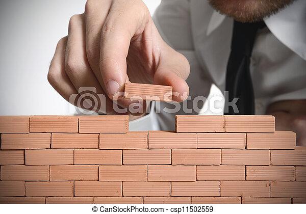 nouveau, construire,  Business - csp11502559