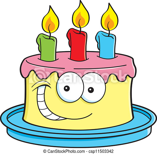 Cake with candles - csp11503342