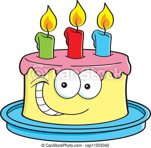 EPS vector de pastel, velas - caricatura, Ilustración, de ...  EPS vector de p...
