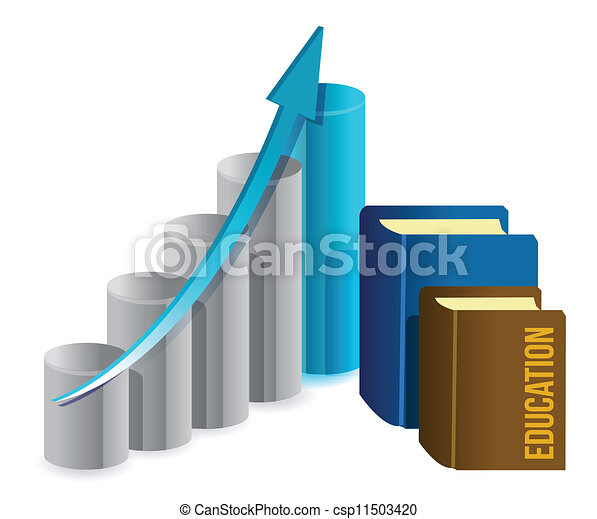 education business graph - csp11503420