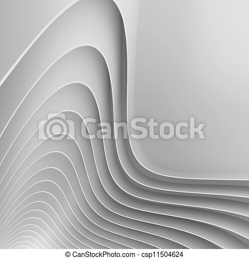 White Abstract Architecture Design - csp11504624