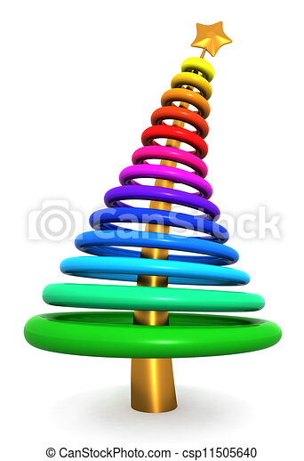 Colorful abstract christmas tree - csp11505640