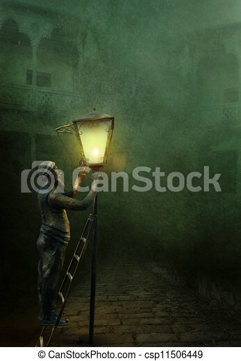 The lamplighter - csp11506449