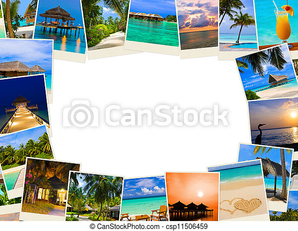 Frame made of summer beach maldives images - csp11506459