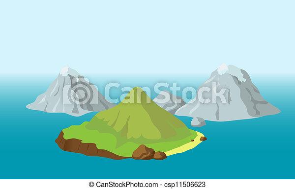 Islands with mountains - csp11506623