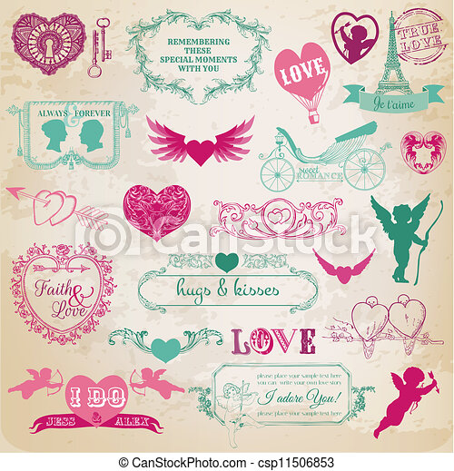 Design Elements - Valentine's Day - csp11506853